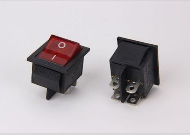 Lighted Spst Miniature Rocker Switch , 2 Way Locking KCD5 Rocker Switch