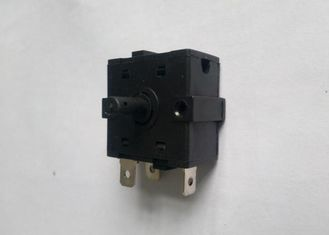 Fan Heater Multi Position Rotary Switch Black 5 / 6 Pins Metal Spindle